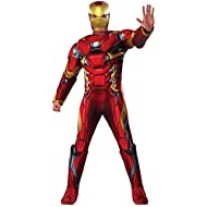 Marvel Men's Captain America: Civil War Deluxe Muscle Chest Iron Man Costume, Multi, One Size