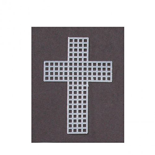 Darice 10-Piece Cross Shape Plastic Canvas, 3-Inch, Clear ()