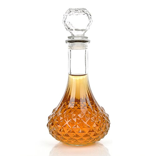 KLOUD City® Clear 1000ml Whiskey Wine Liquor Decanter with Stopper ()