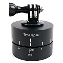 DURAGADGET Rotating Time Lapse Tripod Adapter with Tripod Adapter Attachment - Compatible with the NEW Eken H9 Action Camera