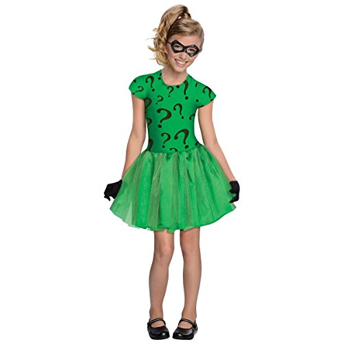 Riddler Costumes Girl (Riddler Girls Child Kids Youth Tutu Skirt Dress Batman Costume)