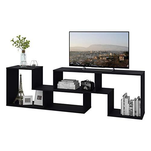 DEVAISE Wood TV Stand Console,2 Pieces Bookcase/Bookshelf(0.59