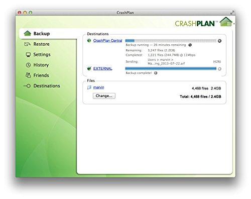 Code42 CrashPlan for Home - Unlimited Online Backup- 1 User