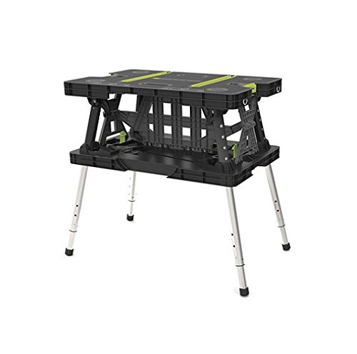 Keter 17200954 Folding Work Table EX with Extendable Legs and