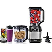 Ninja Blender and Food Processor System with 1200-Watt Auto-iQ Base, 72oz Pitcher, 40oz Blend & Prep Bowl, Dough Tool and (2) 24oz Cups with Lids (BL494)