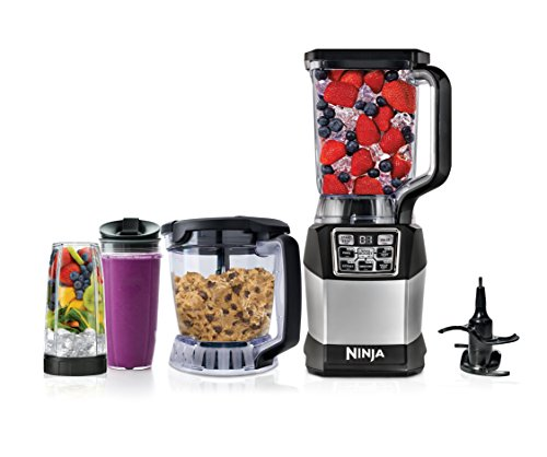 Ninja Blender and Food Processor System with 1200-Watt Auto-iQ Base, 72oz Pitcher, 40oz Blend & Prep Bowl, Dough Tool and (2) 24oz Cups with Lids (BL494) (Ninja Food Processors)