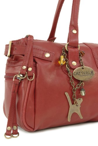 cuir main en Sac Collection Chancery Rouge Catwalk à qptzx6Awf