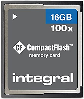Integral 16GB Compact-Flash (CF) Memory Card for Digital SLR ...