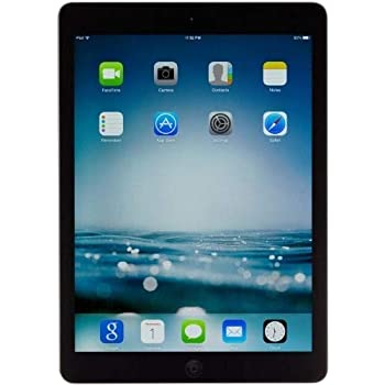 Apple iPad Air MD785LL/A (16GB, Wi-Fi, Black with Space Gray) (Renewed)