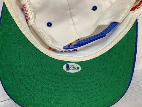 Hakeem Olajuwon Signed 1994 Nba Finals Houston Rockets Cap Hat Beckett Bas Beckett Authentication Autographed NBA Hats