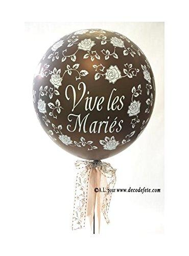 Belbal 1 balón gigante 90 cm Vive Les Mariés Chocolate: Amazon.es ...