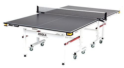 JOOLA Rally TL - Professional MDF Indoor Table Tennis Table w/ Quick Clamp Ping Pong Net & Post Set - 10 Minute Easy Assembly - Corner Ball Holders - USATT Approved - Ping Pong Table w/ Playback Mode from JOOLA
