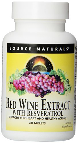 Source Naturals Red Wine Extract with Resveratrol, 60 Tablets ()