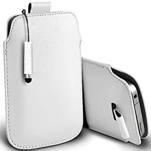 Bloutina Shelfone Stylish Protective Leather Pull Tab Skin Case Cover For Nokia N9 L Includes Stylus Pen White