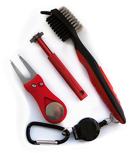 Aras.Golf-Cleaning Brush-Set-Red-310 (Reviews Star Yamaha Accessories)