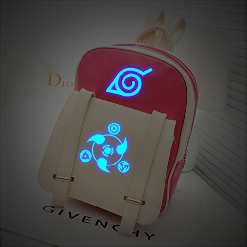 YOYOSHome Anime Naruto Cosplay PU Luminous Satchel Shoulder Bag Backpack School Bag