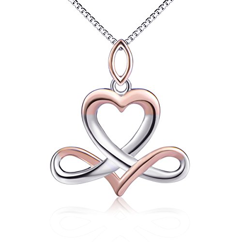 Sterling Silver Libra Constellation Good Luck Irish Celtic Knot Infinity Heart Pendant Horoscope Necklace