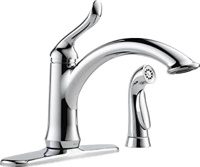 Delta Linden Single Handle Kitchen Faucet With Spray
