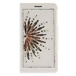 Conseguir Patrón del pavo real del diamante de la PU bolsas de cuero con soporte plegable para Samsung Galaxy Nota 3 N9000