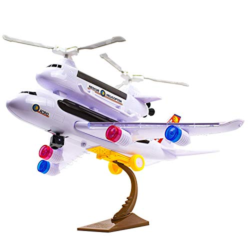Cottontail Rescue Airplane with Helicopter Bump-and-Go Action with Stand LED Lights and Sound ()