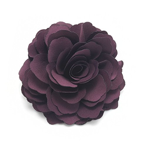 (Meilliwish Camellias Flower Hair Clip and Brooch Pin(A74)(Purple))