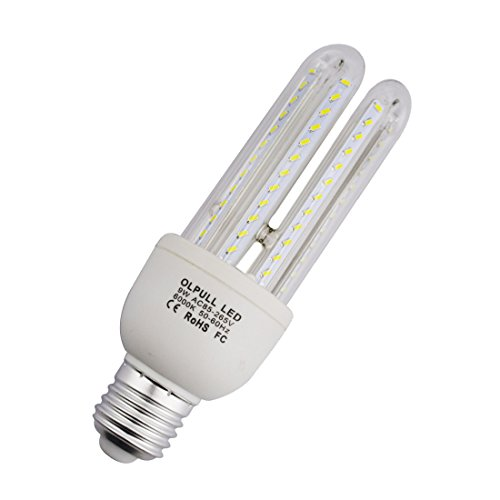 GREXISTAR 3W 5W 7W 9W 16W E27 LED Corn Light Bulb Lamp Cool White 6000K Energy Saving Replacement Conventional CFL Bulb Super Bright (9W)