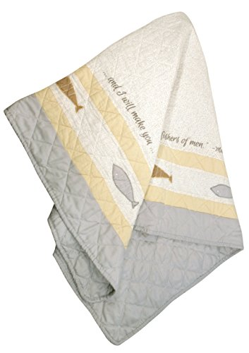 UPC 737505027835, Stephan Baby Pieced and Embroidered Crib Quilt with Scripture, Fishers of Men