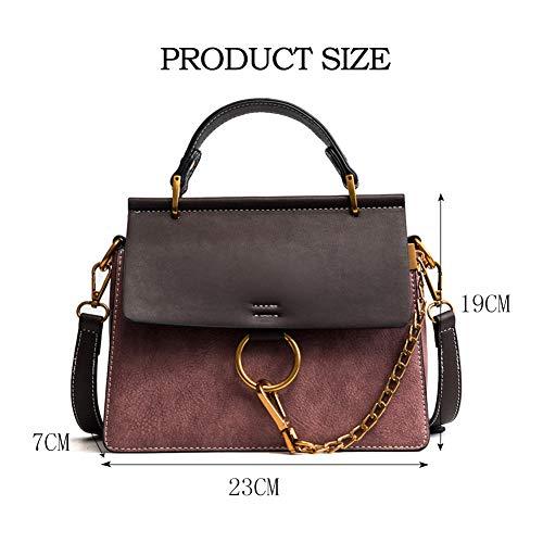Designer Crossbody Top Ring Bag Purse Pink Vintage Handle Shoulder Women's Yoome Bags Handbags SvqxH6Wgw