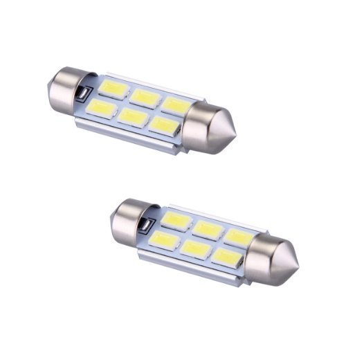 Amazon.com: Lamp - TOOGOO(R) 2 x 39mm 5630 6 SMD LED bulb lamp Dome Festoon 185LM 6500K White car: Automotive