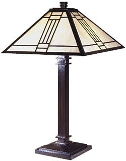 dale tiffany tt100015 noir mission table lamp mica bronze