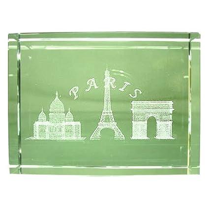 Ricordi di Francia–Blocco vetro Monumenti di Parigi, Vetro, trasparente, 6.8 x 6 x 2.8cm Souvenirs de France