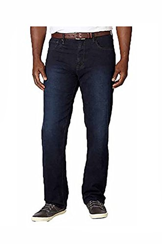 Urban Star Men's Relaxed Fit Straight Leg Stretch Jeans, ...