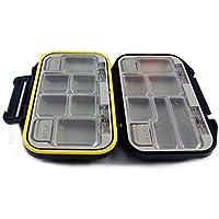 1X se?uelo de la pesca de los trastos impermeable anzuelo caja de almacenaje