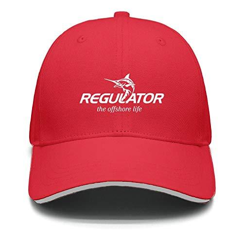 (cambpdkje Men's Women's Casual Cap Regulator-Logo-White- red Street Dancing Unisex Flat Adjustable Hats)