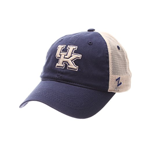 Wildcats Adult Men University Relaxed Cap, Adjustable, Team Color/Stone (Kentucky University Embroidery)