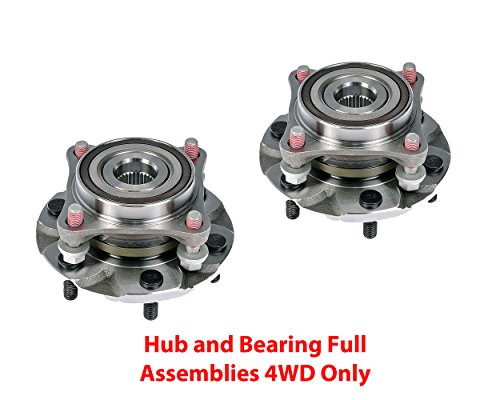 DTA Front Wheel Bearing & Hub Full Assemblies NT515040G3 x 2 pcs Brand New Fits 4WD Tacoma 4 Runner GX460 GX470 4WD Only With Studs (Front Drive Performance Wheel)