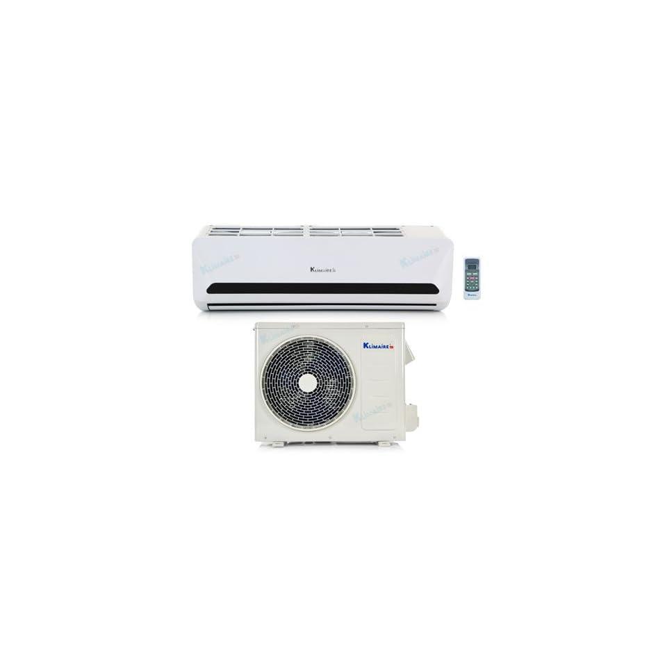 9,000 Btu Klimaire 15 SEER   DC Inverter   Heat Pump & Air Conditioner   115V   16 Installation Kit KSIN009 H115
