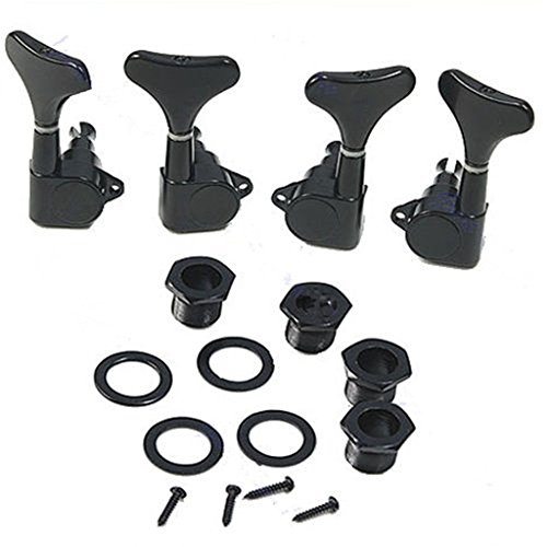 ULKEME New Guitar Sealed Tuners Tuning Pegs Machine Heads 2R2L For 4 String Bass Black by ULKEME