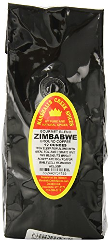 Marshalls Creek Spices Gourmet Ground Coffee, Zimbabwe, 12 Ounce