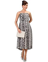 Sweet Mommy Nursing and Maternity Python Maxi Dress
