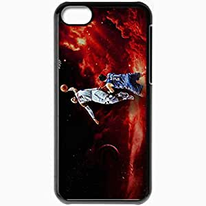 Personalized iPhone 5C Cell phone Case/Cover Skin 14856 hawks wp 24 sm Black