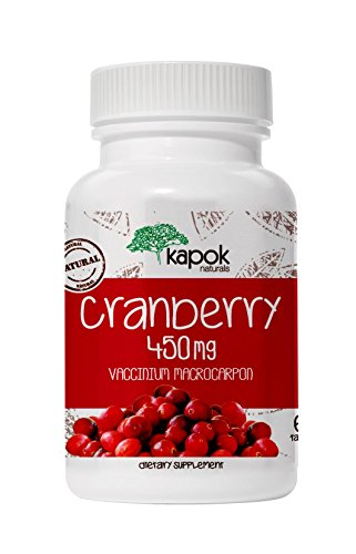 NEW Kapok Naturals Cranberry Pills, Natural Cranberry Supplement for UTI Urinary System Health, Non-GMO Cranberry Extract for Kidney Detox, Liver Cleanse, Bladder Health. Cranberry Concentrate Tablets
