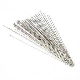 100x Beading Needles Threading Cord Tool Fit Jewellery Making Threading 0.45*80mm