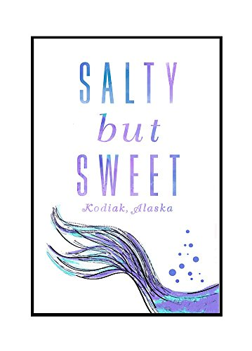 Kodiak, Alaska - Salty But Sweet - Mermaid Tale (24x36 Framed Gallery Wrapped Stretched Canvas) by Lantern Press