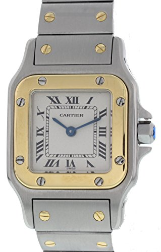Cartier Santos quartz womens Watch 1567 (Certified Pre-owned) (Cartier Watch Bands)