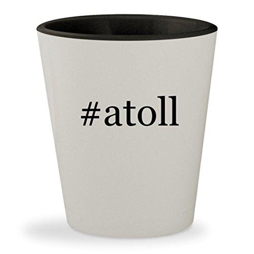 #atoll - Hashtag White Outer & Black Inner Ceramic 1.5oz Shot Glass