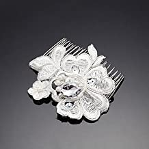 BST Women's / Flower Girl's Lace Headpiece - Wedding / Special Occasion / Outdoor Hair Combs 1 Piece