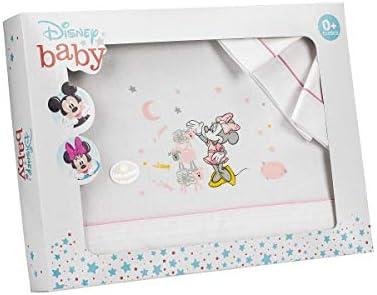 Sábanas Disney Minnie Maxicuna Algodón Blanco y Rosa: Amazon.es: Bebé