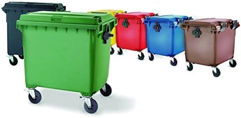 PLASTICOS HELGUEFER Basurero 70 litros con Ruedas-Tapa Verde