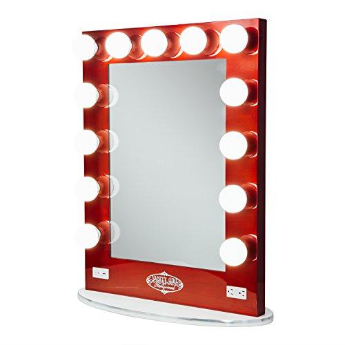 Vanity Girl Hollywood Broadway Lighted Vanity Mirror - Gloss Black 36.25